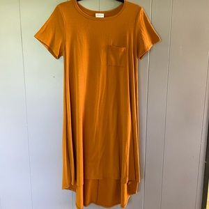 LuLaRoe Dark Mustard Carly Dress Size Small